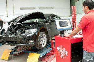 диагностика разбитого автомобиля